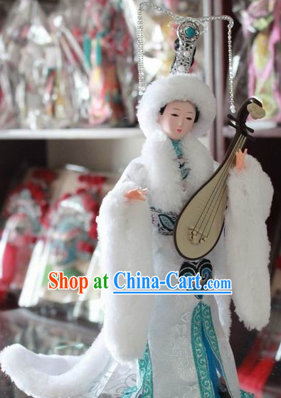 Handmade Beijing Silk Figurine Doll - Beauty Wang Zhaojun