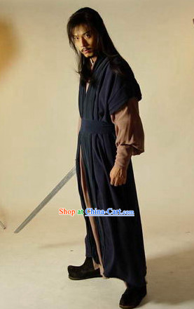 Ancient Korean Black Swordman Costumes Complete Set