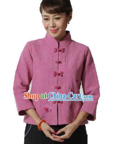 Traditional Chinese Hands Painted Mandarin Jacket for Women