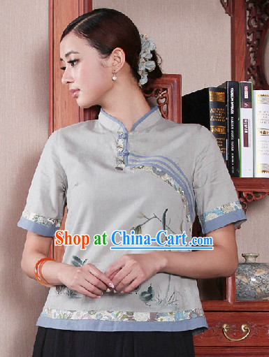 Traditional Chinese Mandarin Top for Women