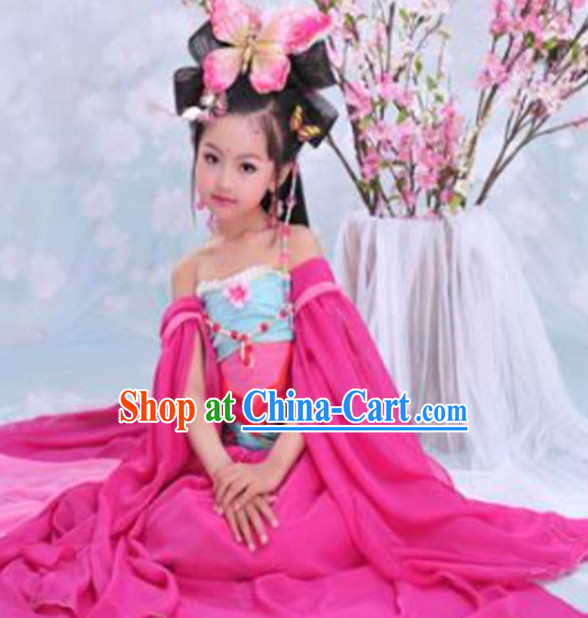 Traditional Classical Dancewear and Headwear Complete Set for Kids