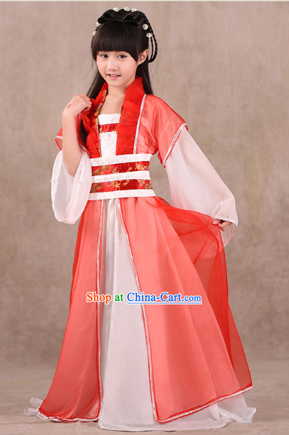 Professional Classical Hanfu Dance Studio Costume for Children