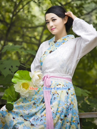 Traditional Chinese Lover Dresses with Lotus