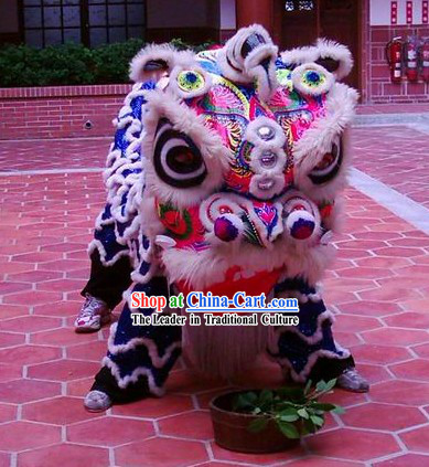 Old Style Handmade Lion Dance Costumes Complete Set