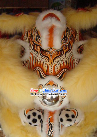 Supreme Long Wool Lion Dance Costumes Complete Set