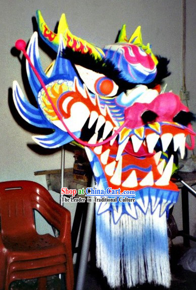 Top Chinese Glow in Dark Dragon Dance Head and Costumes Complete Set