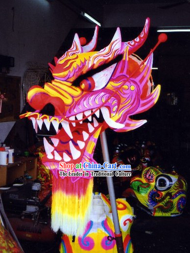 Professional Luminous Dragon Dance Head and Body Costumes Complete Set