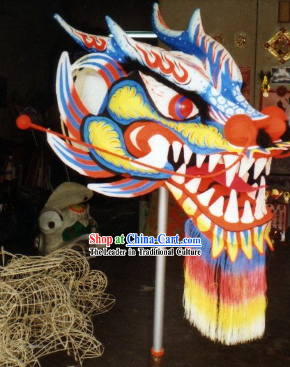 Top Glow in Dark Dragon Dance Head and Body Costumes Complete Set