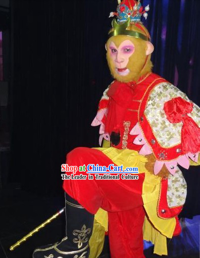 Monkey King Sun Wukong Costumes Accessories Boots and Mask Complete Set