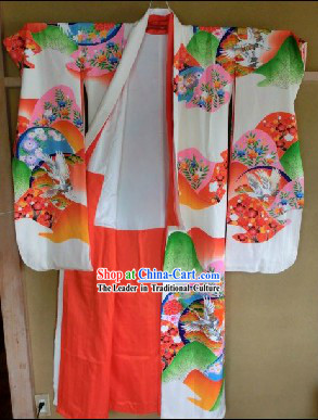 Traditional Japanese Warring States Period Kimono Set for Women
