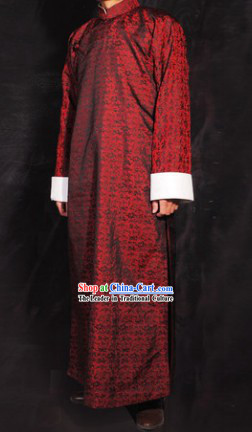 Traditional Chinese Minguo Time Long Robe for Men