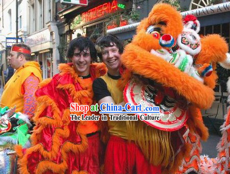Supreme Asian Chinese Lion Dance Costumes Complete Set