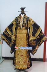 Ancient Chinese Emperor Costume and Crown Complete Set for Men
