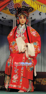 Traditional Chinese Opera Qing Yi Red Wedding Robes