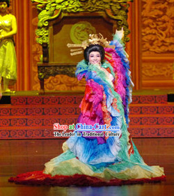 Tang Dynasty Empress Clothes and Headwear Complete Set
