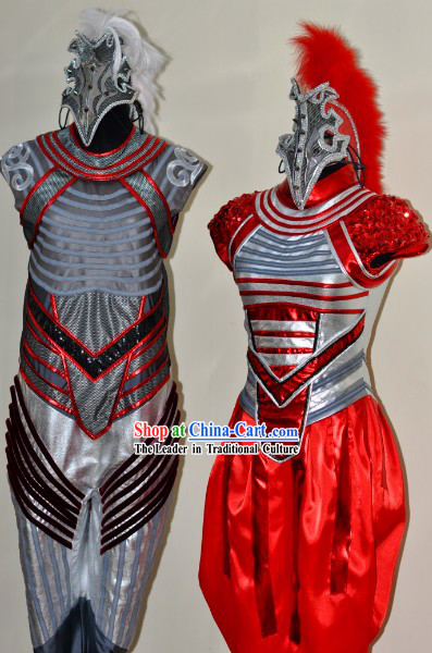 Chinese Spring Festival Gala 2014 Opening Dance Horse Dance Costumes and Headwear Complete Set