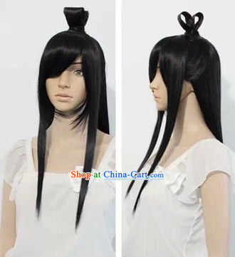 Ancient Chinese Hero Xiang Yu Style Long Wig