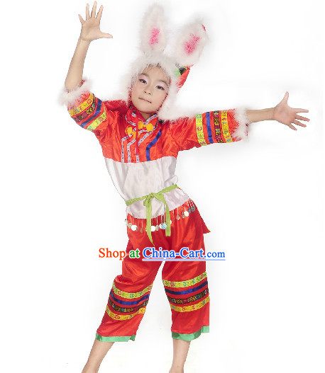 Professional Stage Performance Rabbit Dancing Costumes for Child