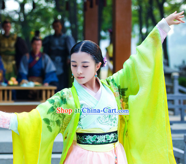Chinese Costume Period of the Northern and Southern Dynasties Ancient Chinese Lanling Princess Clothes and Hair Accessories Complete Set