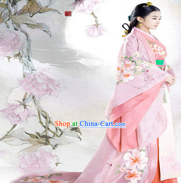 Ancient Chinese Lanling Princess Costumes and Headdress Chinese Costume Period of the Northern and Southern Dynasties Complete Set