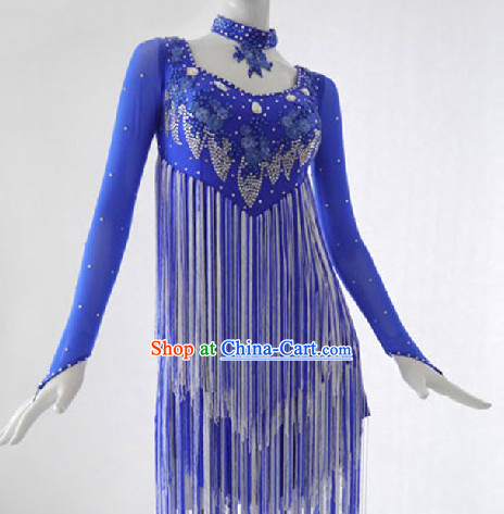 Top Professional Adult Waltz Blue Dance Costumes