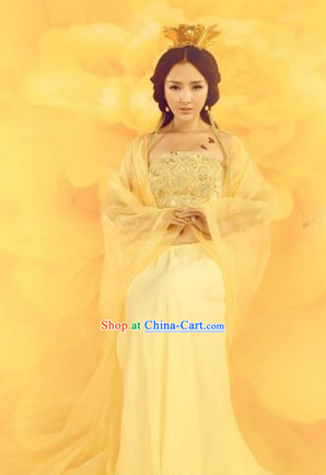 Sexy Guzhuang Gold Dance Costumes Complete Set