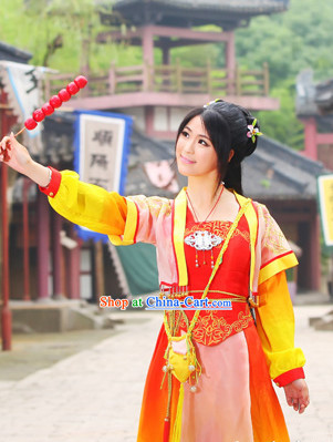 Ancient Chinese Swordsman Princess Garment Complete Set