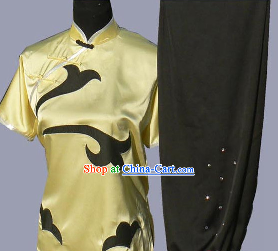 Top Short Sleeves Silk Martial Arts Competition Dresses