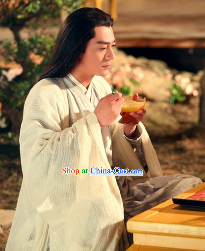 the Journey of Flower TV Drama Bai Zi Hua Immortal Being Dresses Complete Set for Men