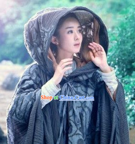 the Journey of Flower Chinese TV Drama Black Mantle Cape