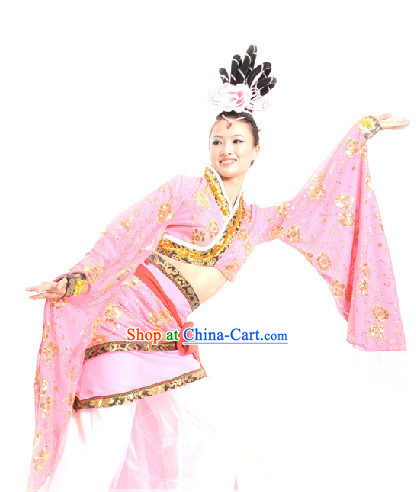 China Classical Dance Chu Yao Costume and Headdress for Women