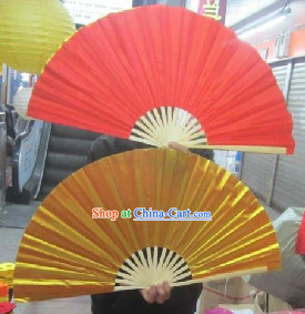 Double Sides Red Gold Dance Fan