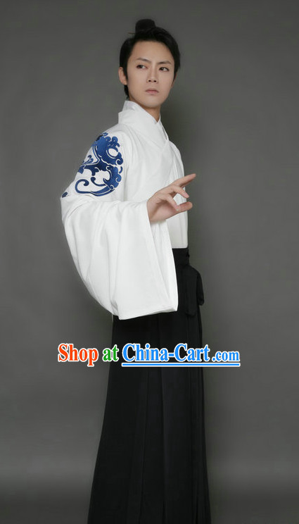 Embroidered Dragon Huafu Upper Garment and Pants