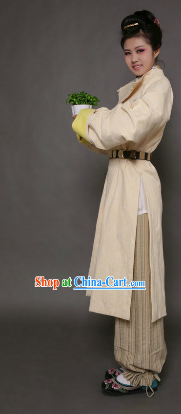 Everyday Court Dress Tang Dynasty Gown Clothes Complete Set for Women