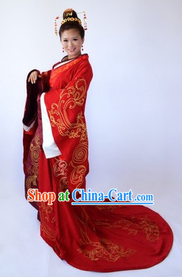 Chinese Empress Wedding Costume and Hair Accessories Complete Set