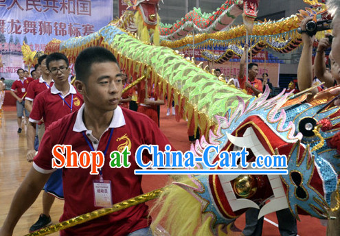 Top Competition and Parade Lightweight Dragon Dancing Costumes Complete Set