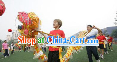 Handmade Chinese New Year Olympic Kids Dragon Dance Equipment Complete Set