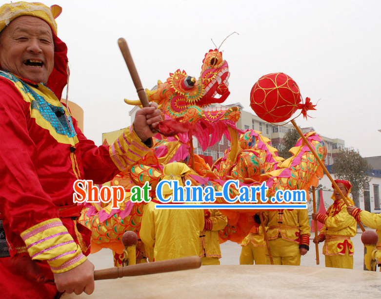 18 Meters National Dragon Dance Equipment for 10 People
