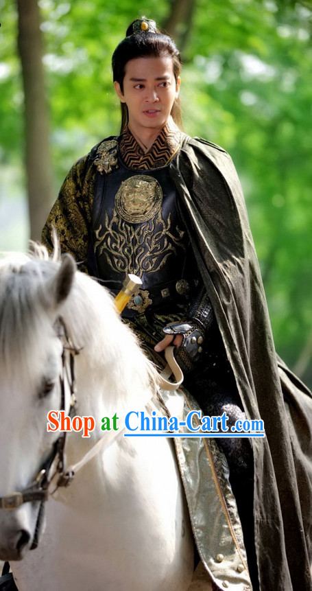 Chinese Costume Period of the Northern and Southern Dynasties Lanling Wang Ancient Chinese General Costume Complete Set for Men