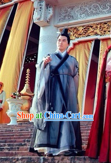 Ancient Taoist Tai Chi Outfit and Headpieces Complete Set