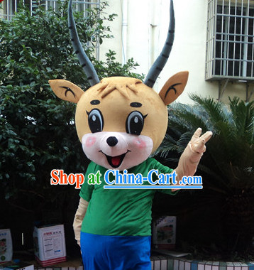 Chinese New Year Laughing Goat Mascot Costumes Complete Set