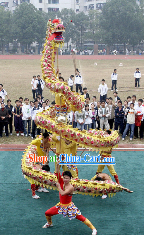 Big Events Performance Dragon Dance Equipment Complete Set