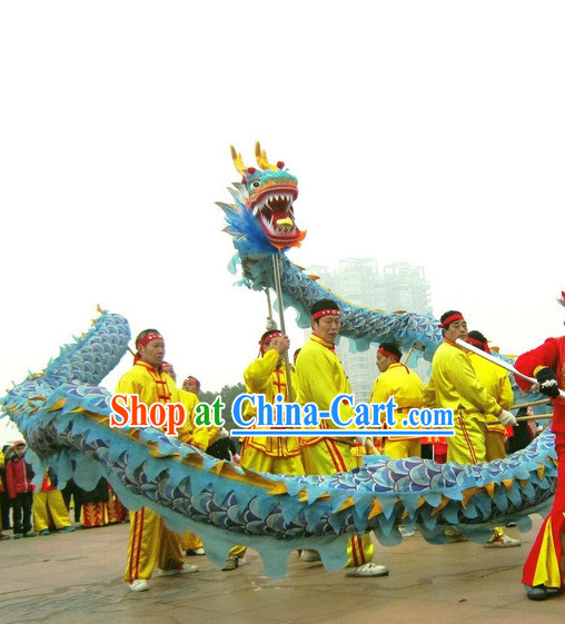 18 Meters 10 People Traditional Dragon Dance Equipments Complete Set