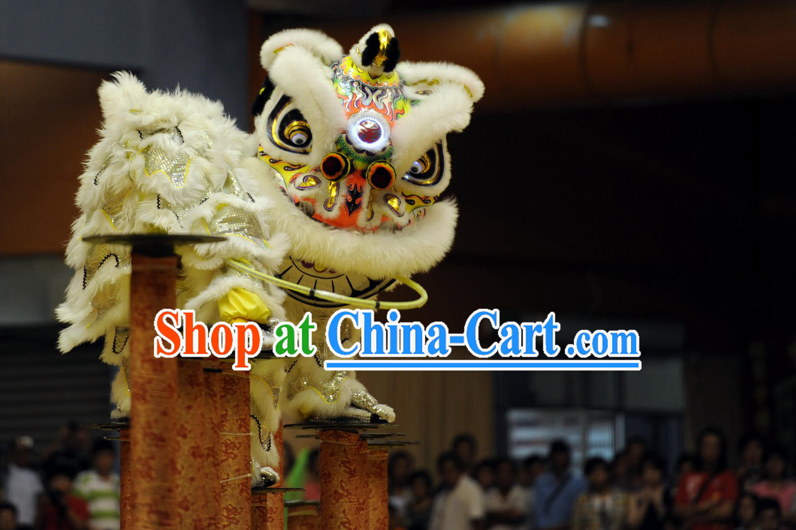 Competition Southern Lion Dance Equipments Complete Set