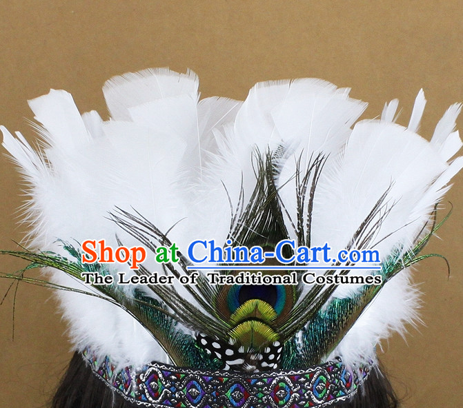 Custom Made Handmade Chinese Feather Hair Accessories Hairpieces