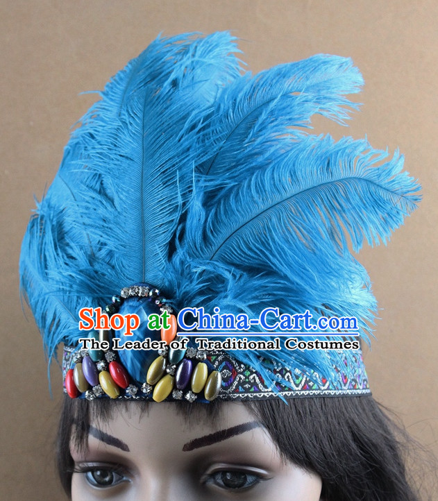 Handmade Chinese Feather Hair Accessories Hairpieces