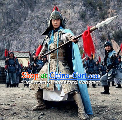 Ancient Chinese General Armor Csostumes and Helmet Complete Set