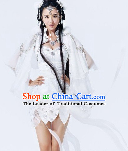 Asian Halloween Costumes Fairy Costume and Hair Jewelry Complete Set for Women