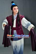 Stage Performance Ancient Chinese Farmer Costumes and Hair Accessories for Men