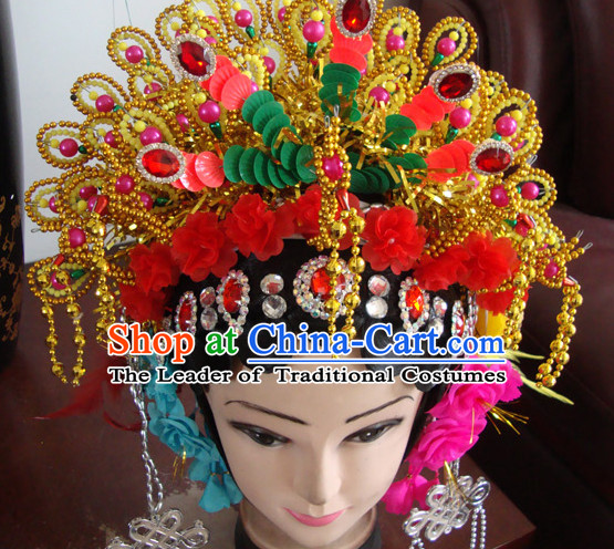 Handmade Ancient Chinese Hairstyles Opera Phoenix Crown Hat